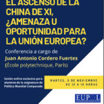 "EU – Talk ""El ascenso de la China de Xi, ¿Amenaza u oportunidad para la Unión Europea?"